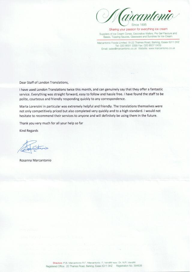 Marcantonio letter