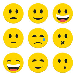 Picture of emoji emoticons