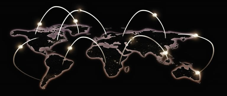fiberoptic connections around the world