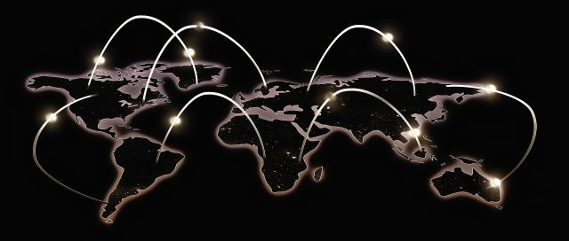 fiberoptic connections around the world